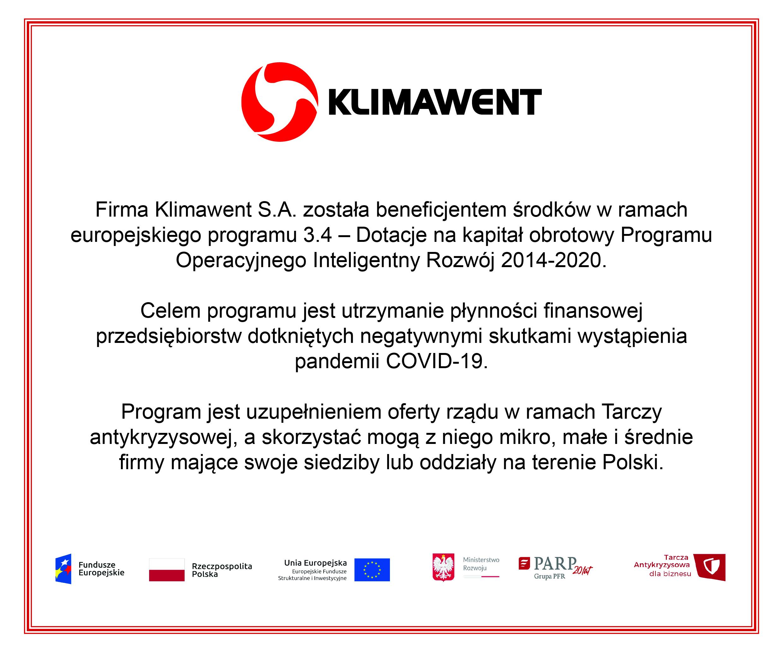 Klimawent - beneficjent programu inteligentny rozwój