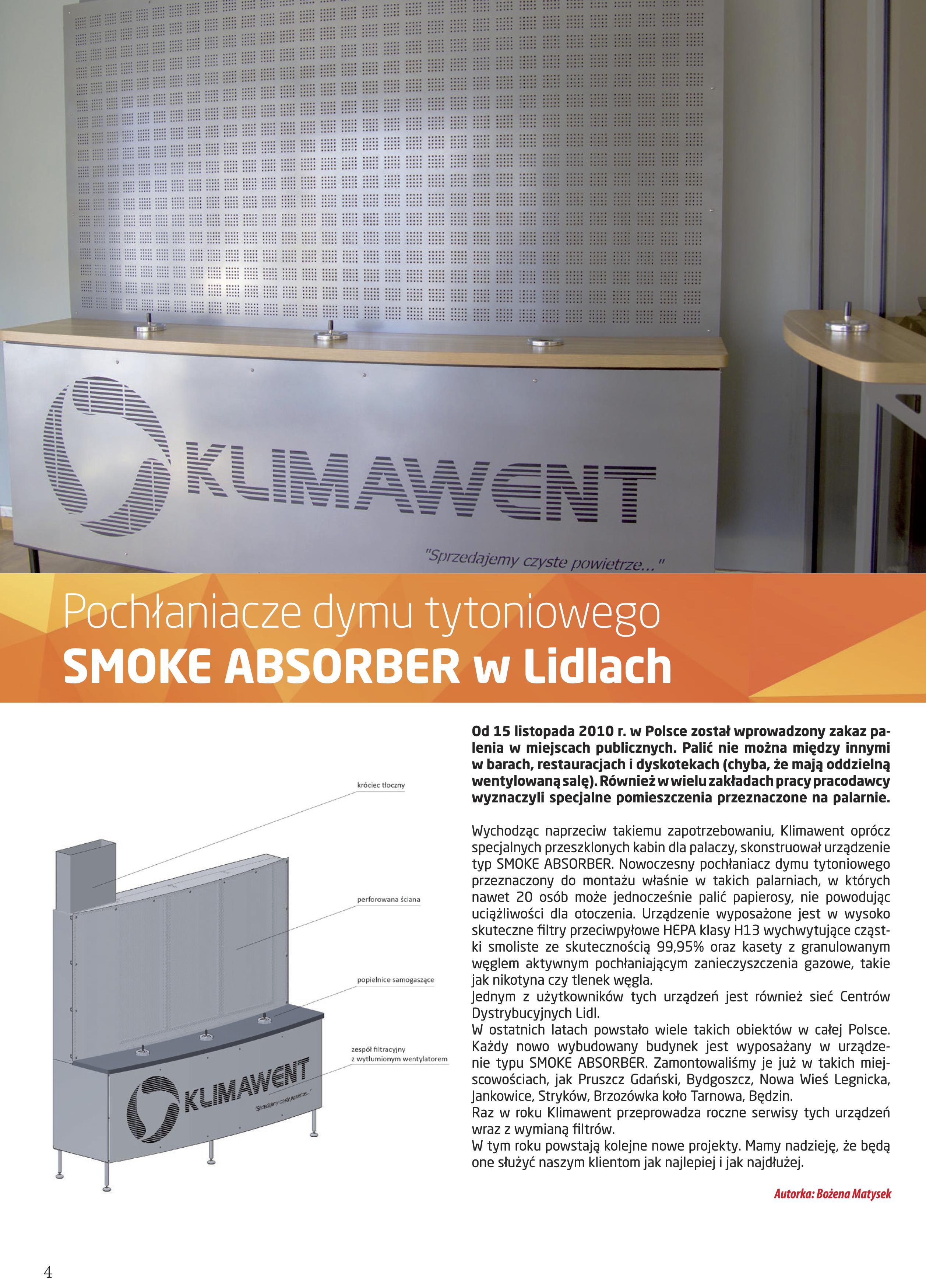 pochłaniacze dymu tytoniowego